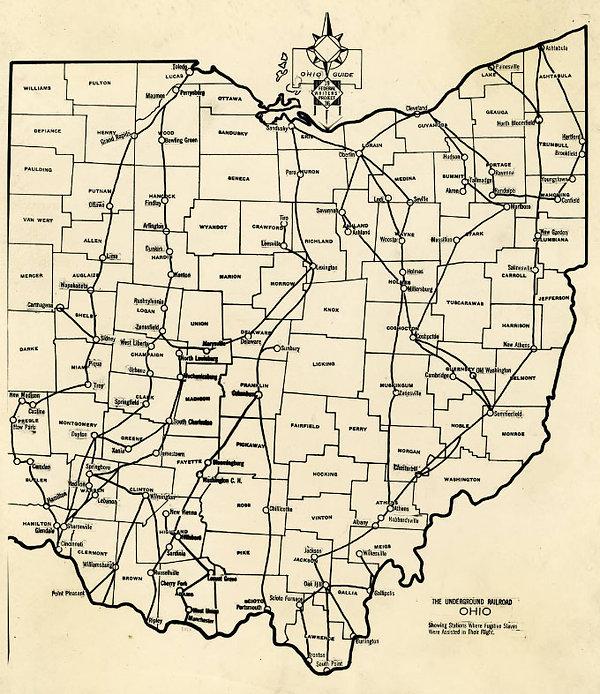 ohio underground railroad map