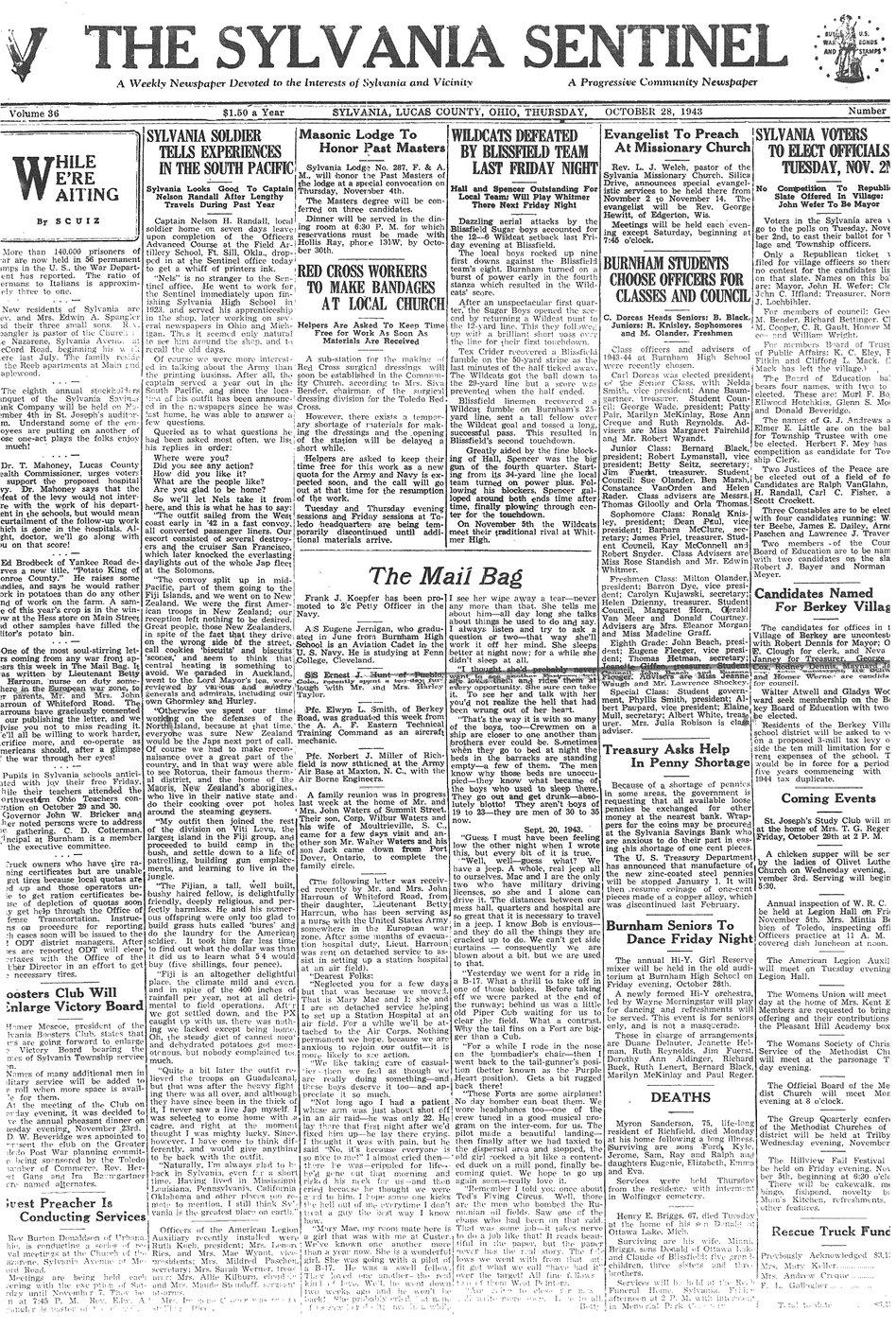 1943 oct 28 sylvania sentinel