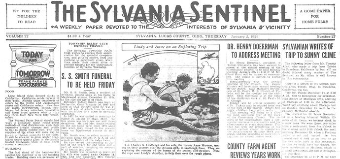 1929 SYLVANIA NEWSPAPER