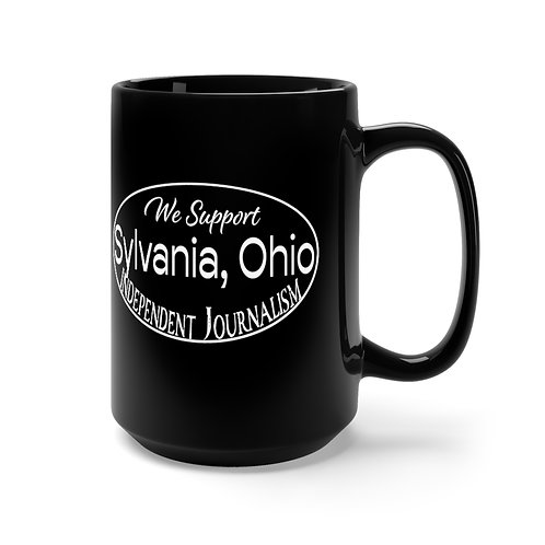 We Support Sylvania Black Mug 15oz