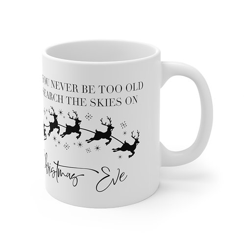 Never Too Old Sylvania Christmas Mug
