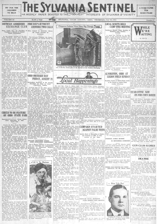 1931 july 30  sylvania sentinel