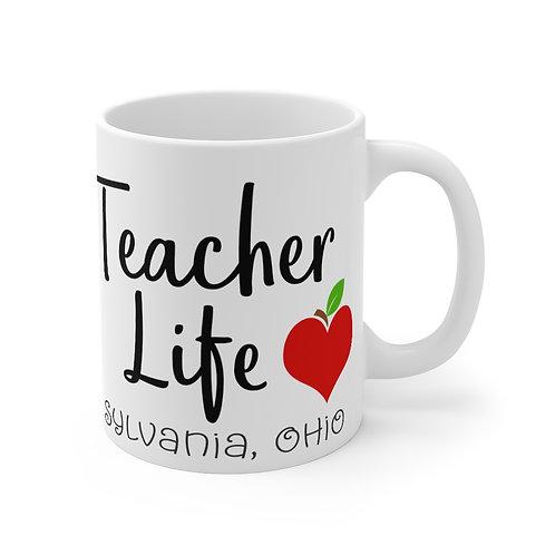 Teacher Life, Teach Love Inspire Mug 11oz