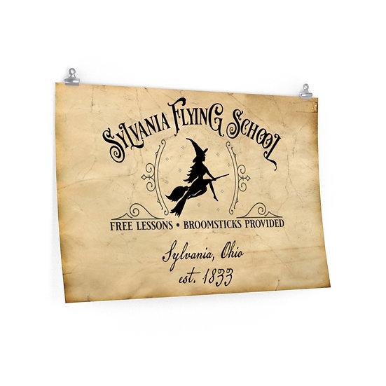 Sylvania Flying School Premium Matte Poster