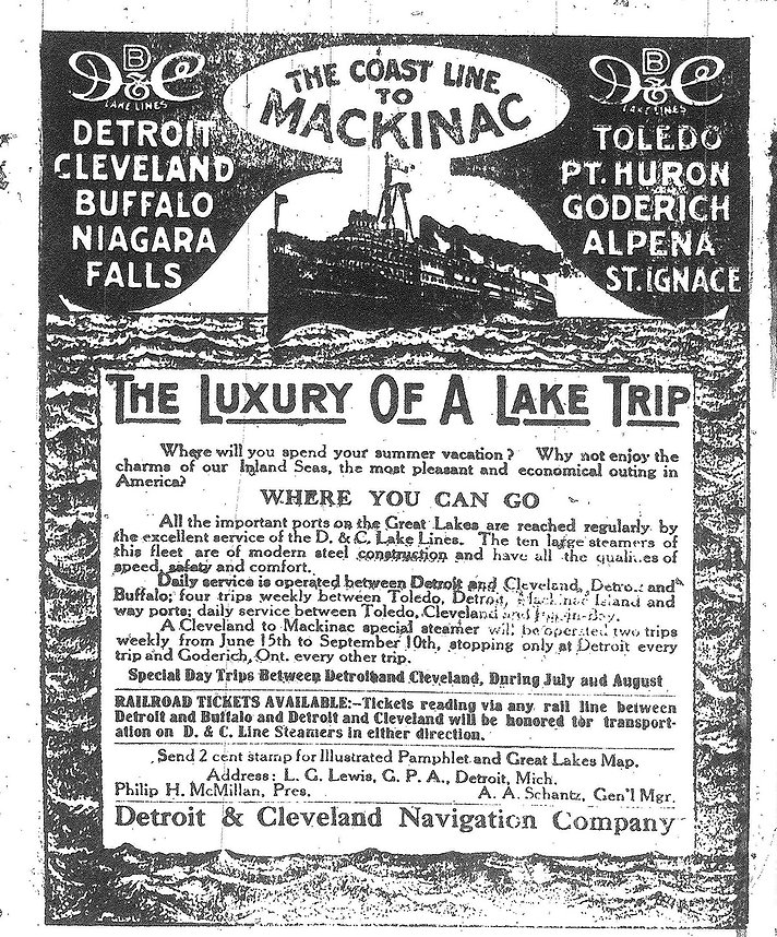Sylvania newspaper ad from 1913