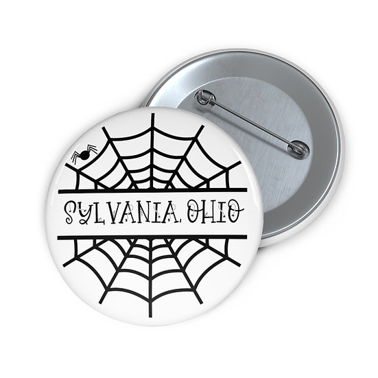 Sylvania Caught in the Spider's Web Pin Buttons