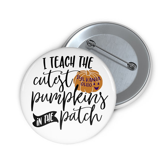 Teach the Cutest Sylvania Pumpkins Pin Buttons