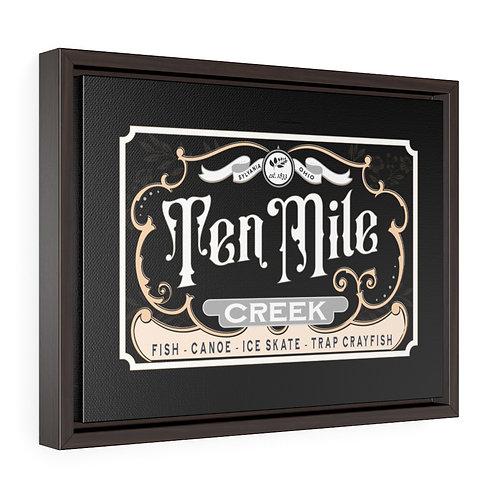 Ten Mile Creek Black Framed Premium Gallery Wrap Canvas