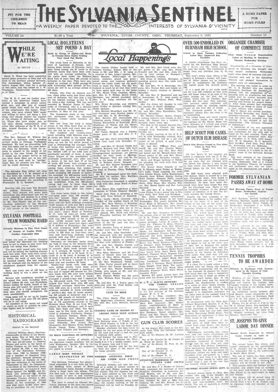 1931 sept 3 sylvania sentinel