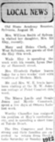 1912 Sylvania Newspaper