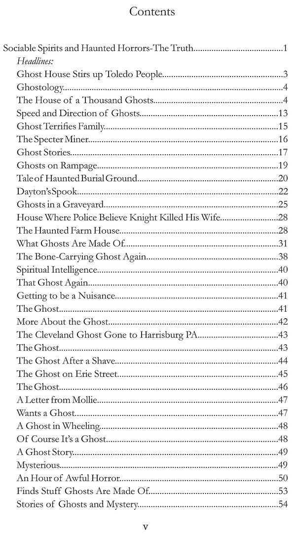 Haunted contents