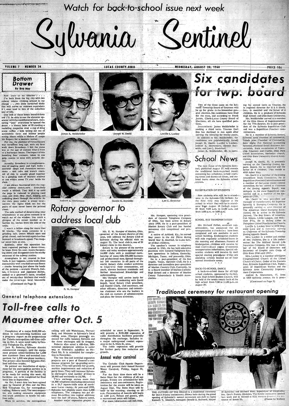 Sylvania Sentinel august 20 1968