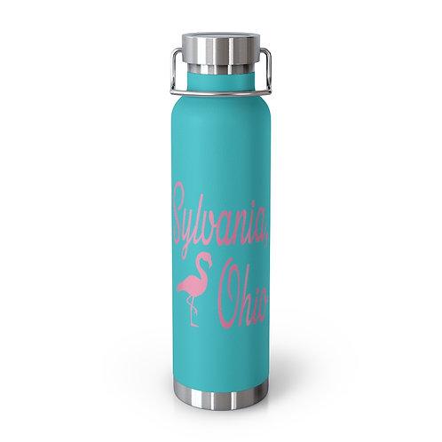 Sylvania Pink Flamingo 22oz Vacuum Insulated Bottle
