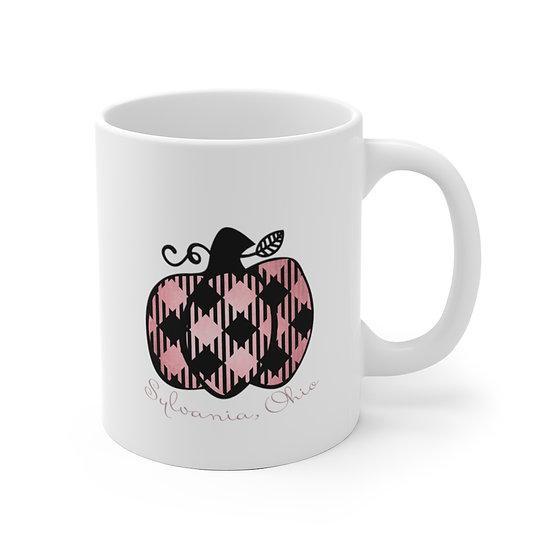 Sylvania Pink Pumpkin White  Mug