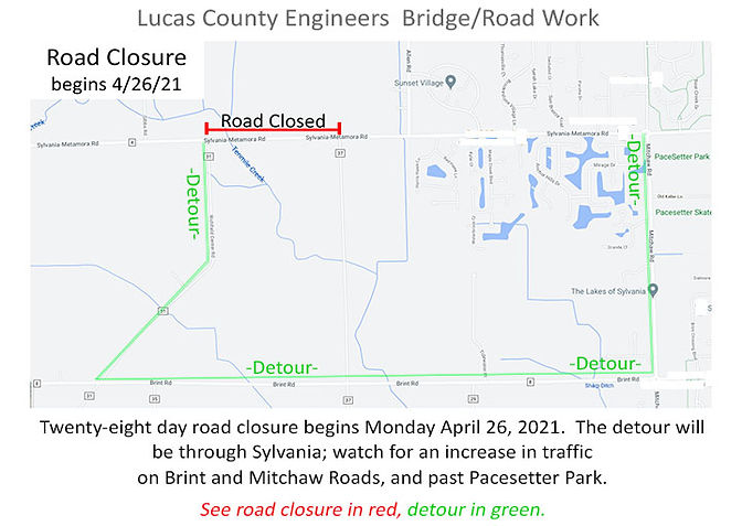 road work map april 2021