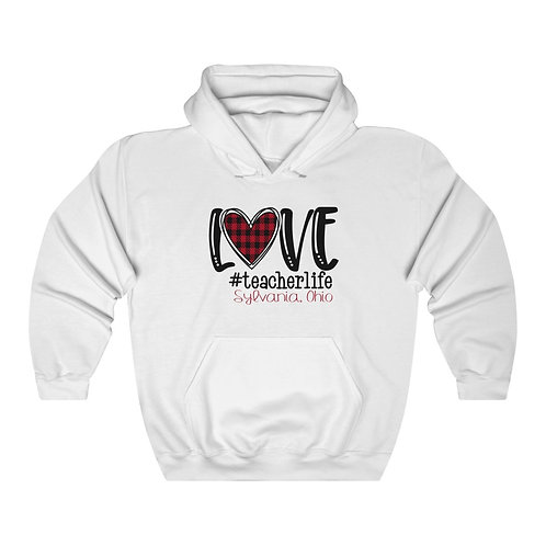 Love Sylvania Teacher Life Unisex Hooded Sweatshirt