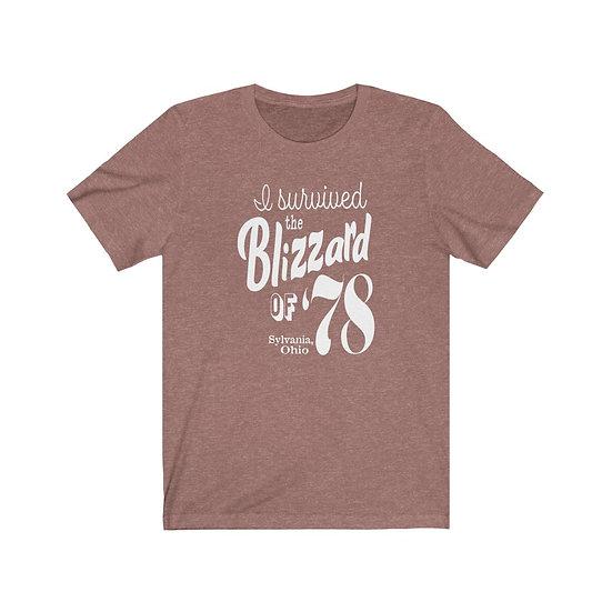 Blizzard of '78 Sylvania Unisex Jersey Short Sleeve Tee