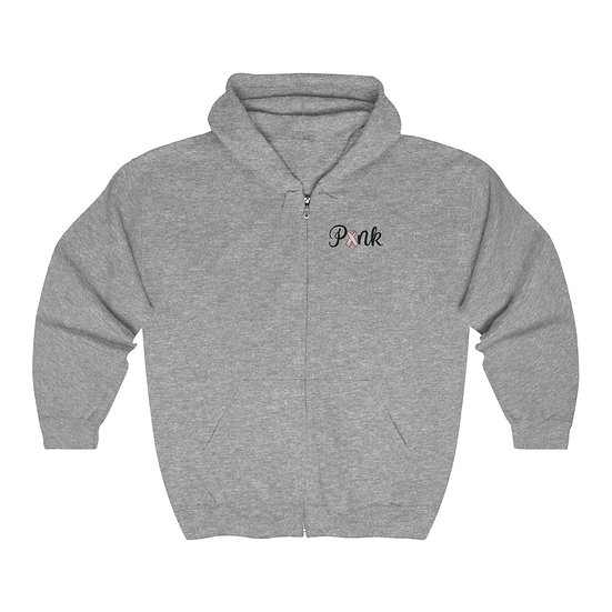 Pink Unisex Heavy Blend™ Full Zip Hooded Sweatshirt