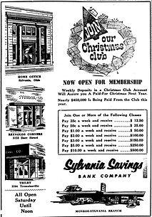 sylvania savings bank 1956