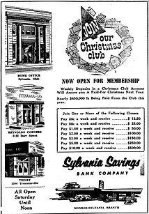 sylvania savings bank 1956