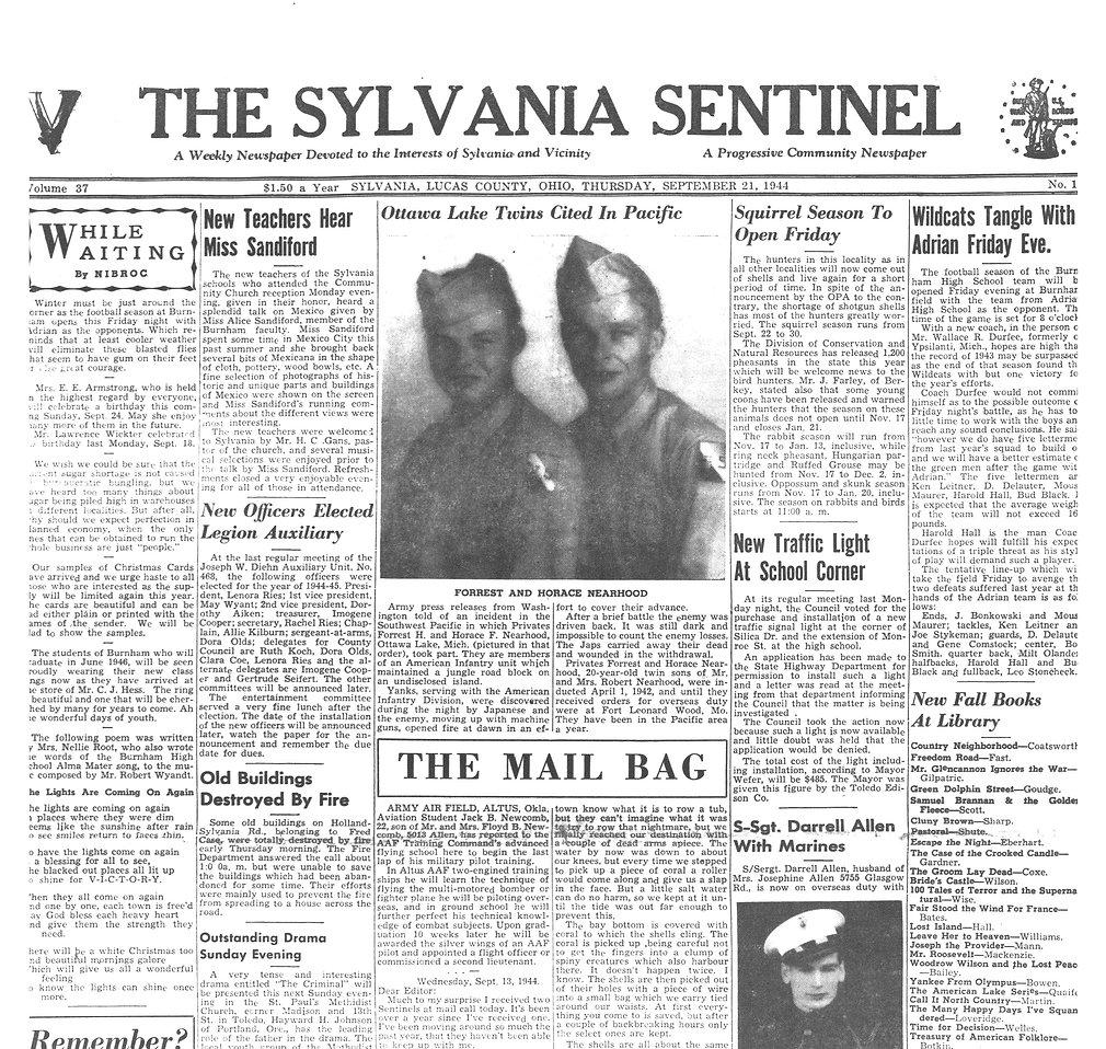 1944 sept 21 sylvania sentinel