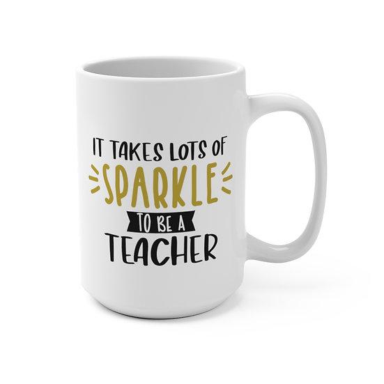 Sylvania Teachers  Sparkle Lg White Mug