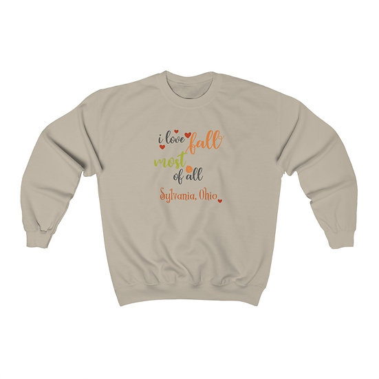 Love Fall in Sylvania Unisex Heavy Blend™ Crewneck Sweatshirt