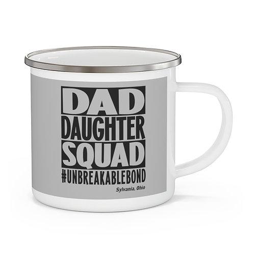Dad Daughter Grey Enamel Camping Mug