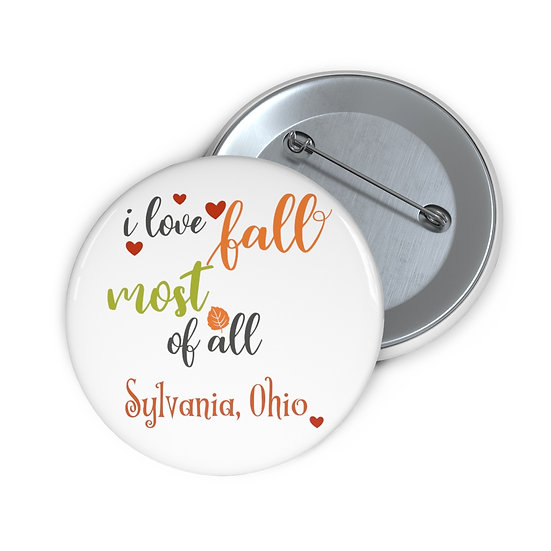 I Love Fall in Sylvania Pin Buttons