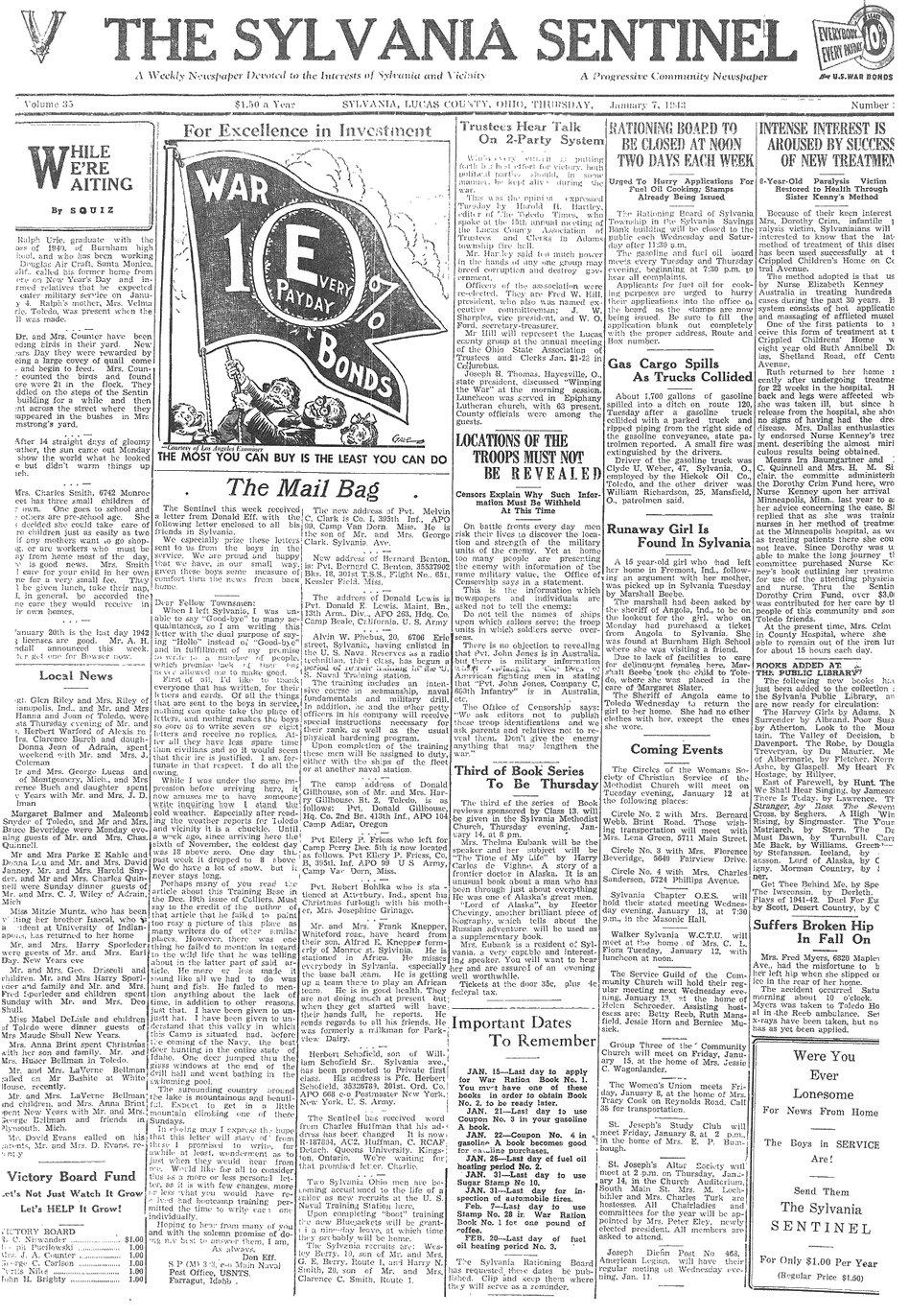 1943 jan 7 sylvania sentinel