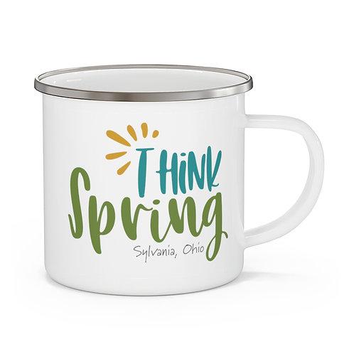 Think Spring Sylvania Enamel Camping Mug