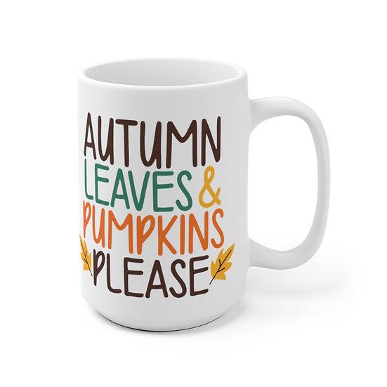 Sylvania Autumn Leaves Please Lg Mug