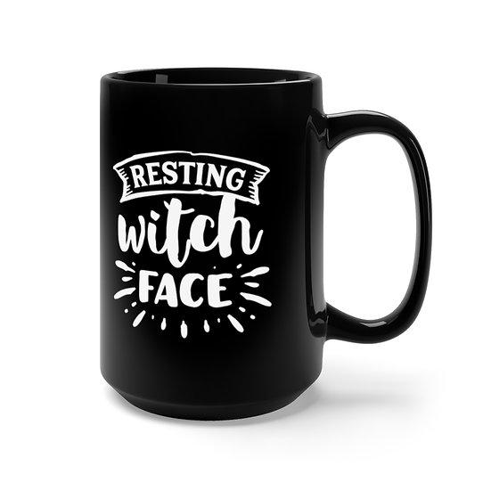 Sylvania Resting Witch Face Black Lg Mug