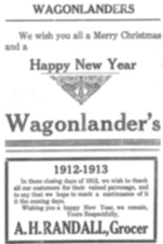 1912 Newspaper ad