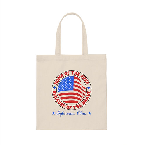 Home of The Free Sylvania Canvas Tote Bag