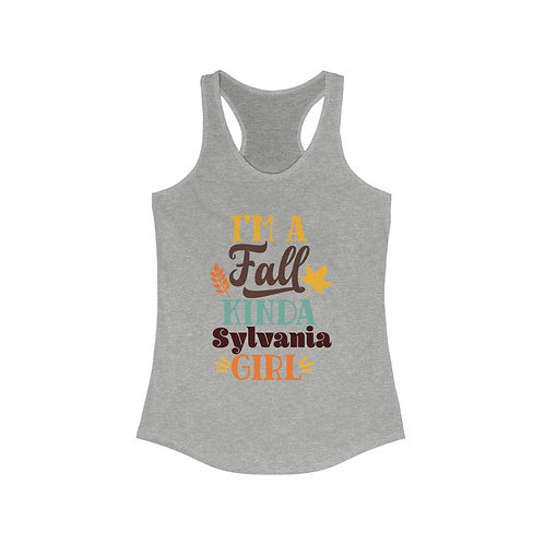 Fall Kinda Sylvania Girl Racerback Tank