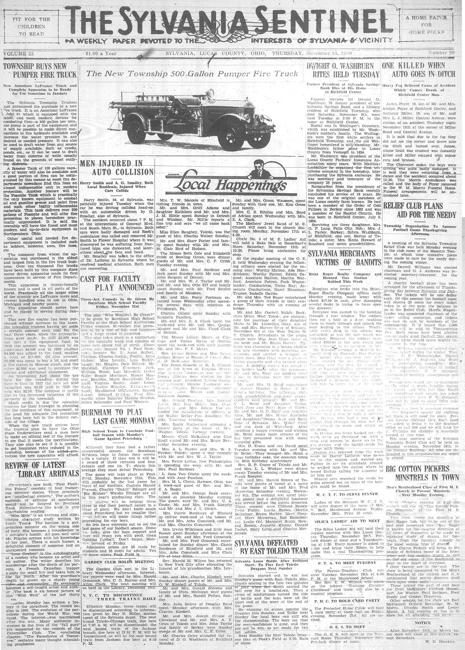 1930 nov 13 newspaper