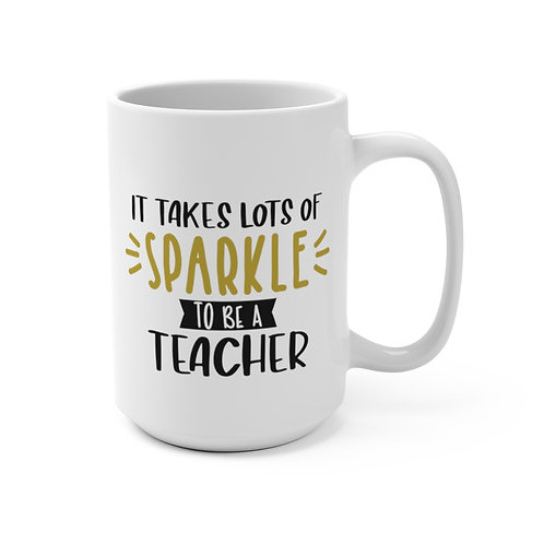 Sylvania Teachers  Sparkle Lg White Mug