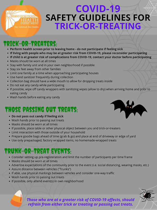 Safety Guidelines for Trick-or-Treating