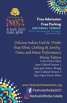 festival of india 2021 flyer