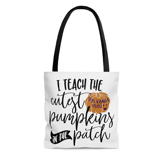 Sylvania Teacher's Cute Pumpkins Tote Bag