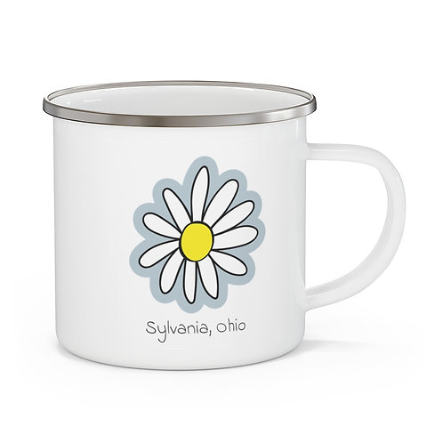 Sylvania Daisy Enamel Camping Mug