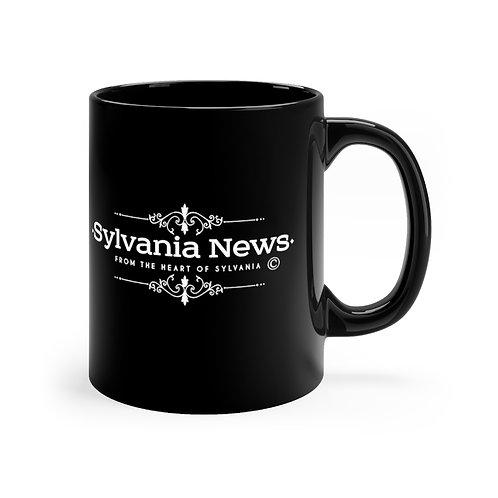 Sylvania News Black mug 11oz
