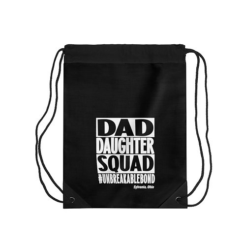 Dad Daughter Squad Drawstring Bag