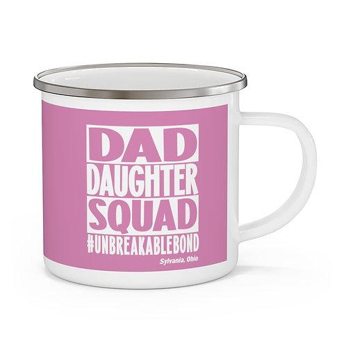 Dad Daughter Squad Sylvania Enamel Camping Mug