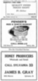 Old Sylvania newspaper ads