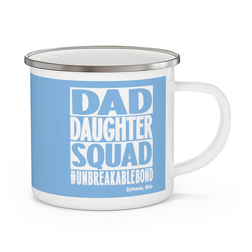 Dad Daughter Squad Sylvania Blue Enamel Camping Mug