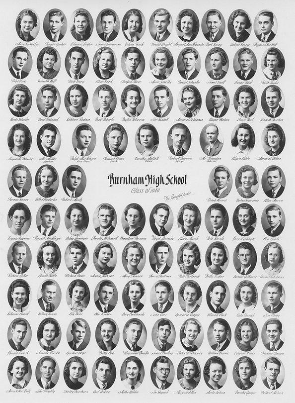 burnham high school class of 1940