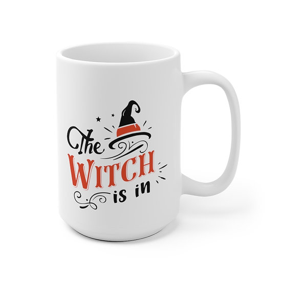 The Sylvania Witch is in Lg White Mug