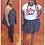 Thumbnail: Curvy Girl Polka Dot Strapless Top/Skirt